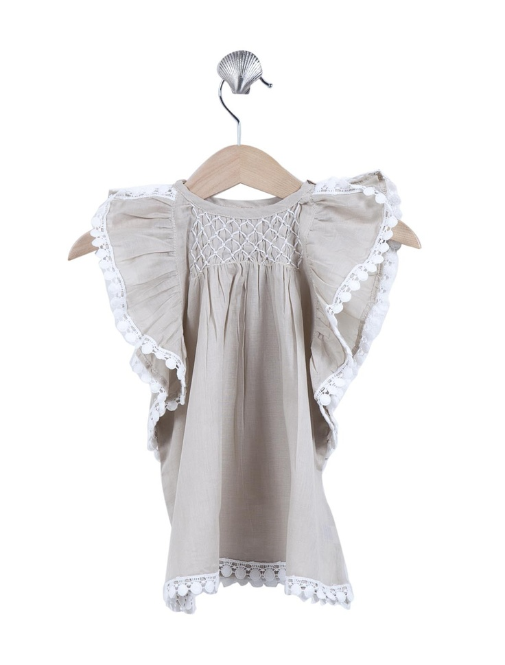 Coco & Ginger - Maya blouse - sand/lace