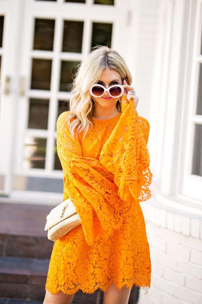 white sunglasses, YSL raffia bag, ASOS dress