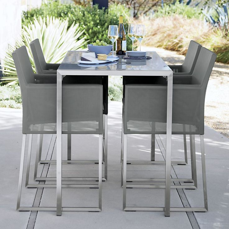 "PATIO BAR SEAT ING AND BAR TOP Dune 30"" Bar Stool with Cushion - Taupe 