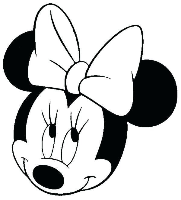 minnie mouse silhouette how to color e ideas mickey on and ...