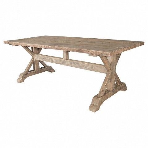 Dining table 200 cm with X leg and H bar - Trade Secret