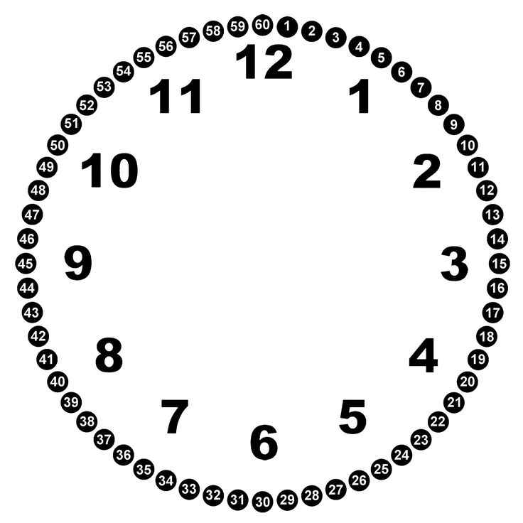 Images For > Clock Face Template For Kids