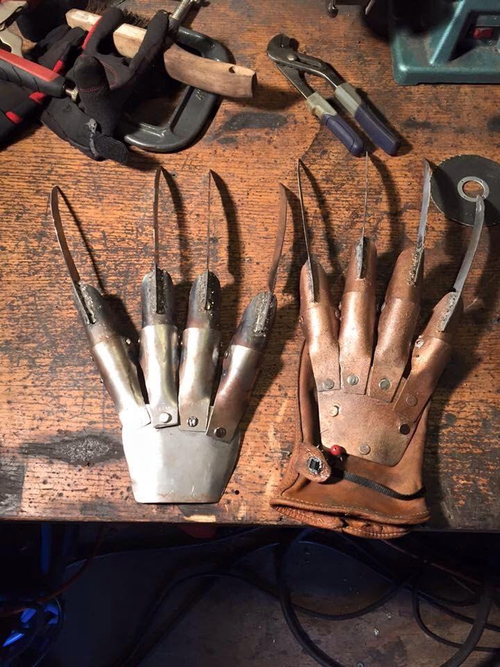 Freddy Krueger glove by Blades4Hands on Etsy https://www.etsy.com/listing/249794614/freddy-krueger-glove