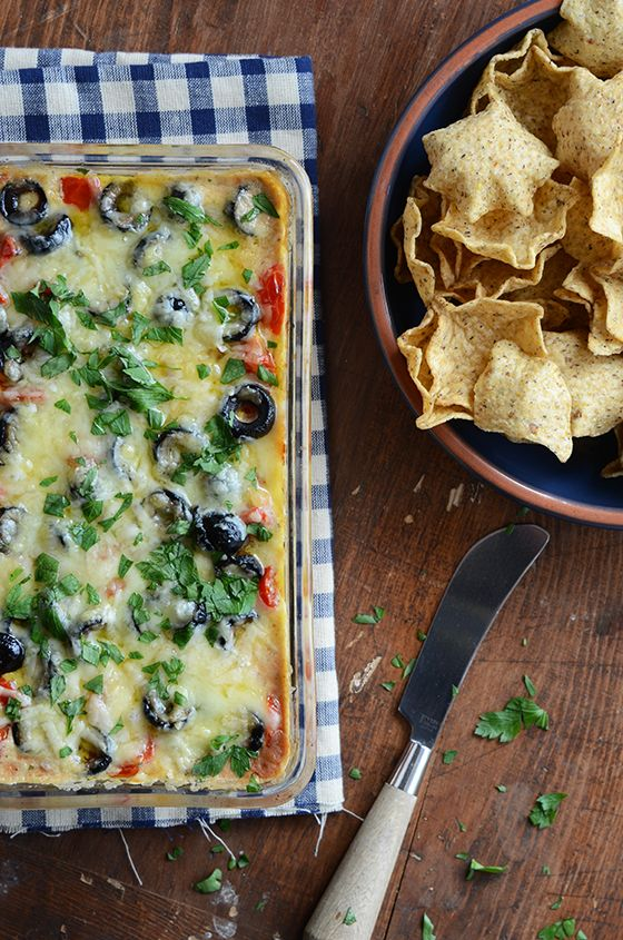 Cheesy Warm Bean Dip makes a quick, easy, and delicious appetizer!