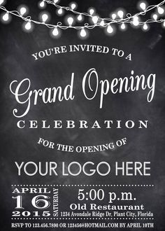 24 best grand opening invitations images on pinterest grand printable grand opening celebration invitation by digitalline stopboris Images