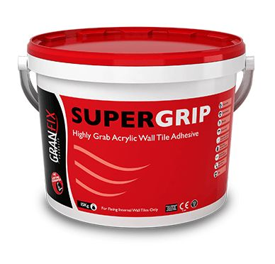 Granfix Supergrip wall tile adhesive here https://www.tiledealer.co.uk/freetextsearch/search/result/?keyword=granfix+supergrip at Horncastle Tiles Lincolnshire at the best price