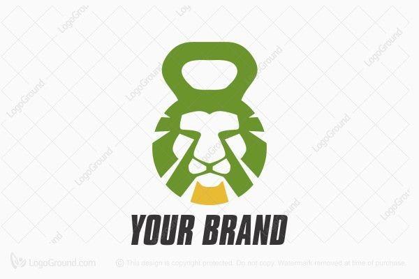 Lion Fitness Logo Crossfit Logo Gym Logo Logo