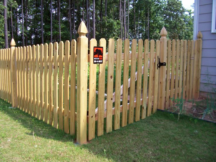 Wood dog ear picket fence by Mossy Oak Fence - Best 20+ Cheap Fence Panels Ideas On Pinterest Cheap Fence Ideas