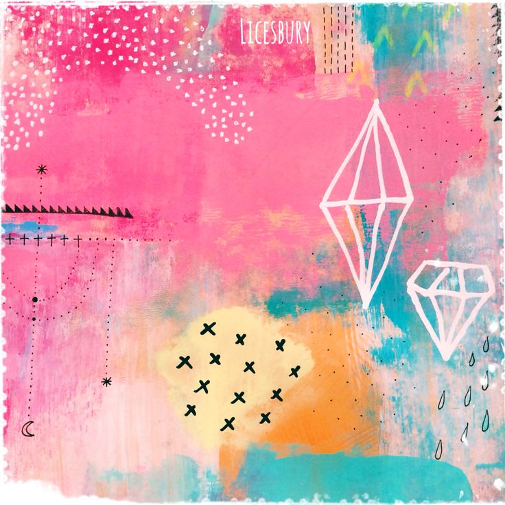 Mix media background by Licesbury #lovepink #background #mixmedia