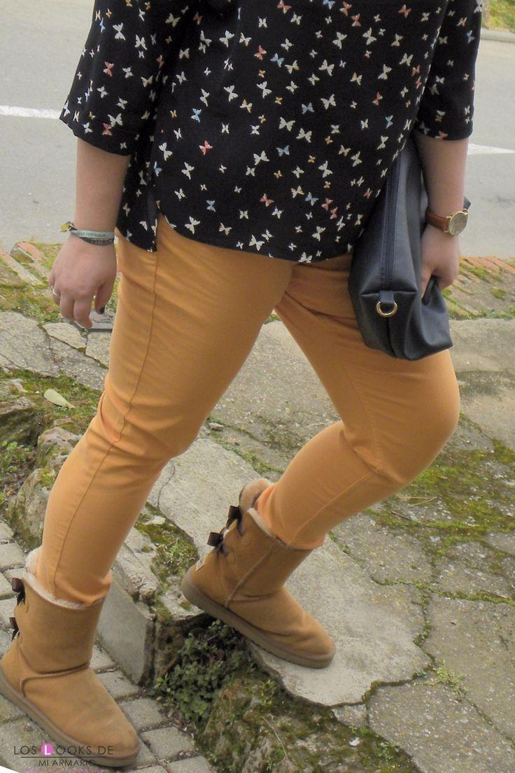 Trendy Curvy Look. MARIPOSAS #violetabymango #camisa #primark #jeans #mostaza #outfittallagrande #curvy #plussizecurve #personalshopper #curvygirl #loslooksdemiarmario #bloggermadrid #outfit #plussizeblogger #fashionblogger #influencer #trendy #bloggerXL