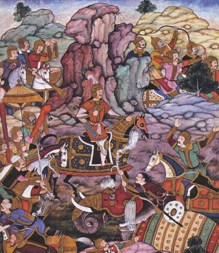 Babur's army at the Battle of Panipat