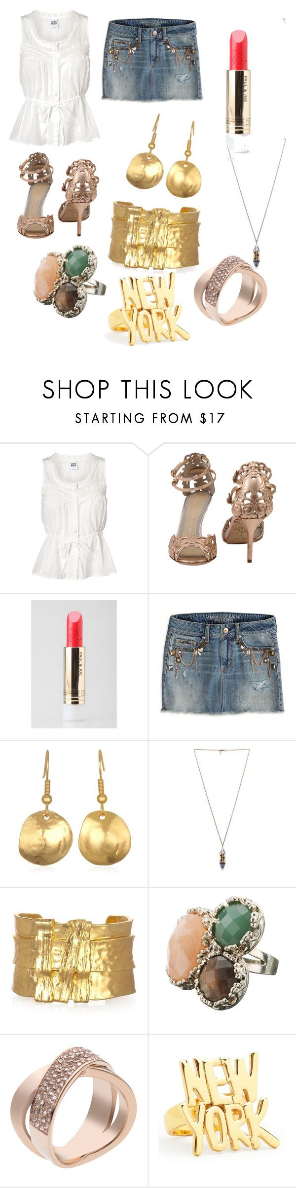 """""""Like totes flabarific!!"""" by lollipopwhiskers on Polyvore featuring Vero Moda, Charlotte Olympia, Paul & Joe, American Eagle Outfitters, Pamela Love, Monsoon, Michael Kors and Kate Spade"""