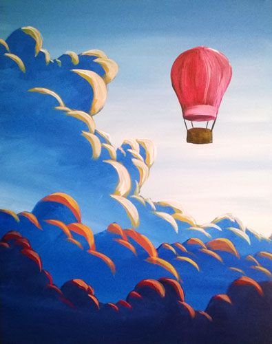 Paint Nite - Above The Clouds. Use ORLANDOVIP at checkout for $20 off all tickets http://paintnite.com