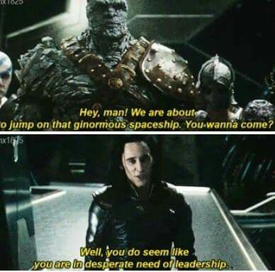 """Loki cracks.me.up. he's all like """"oooh, here's a bunch of people who need a saviour...happy to oblige"""""""