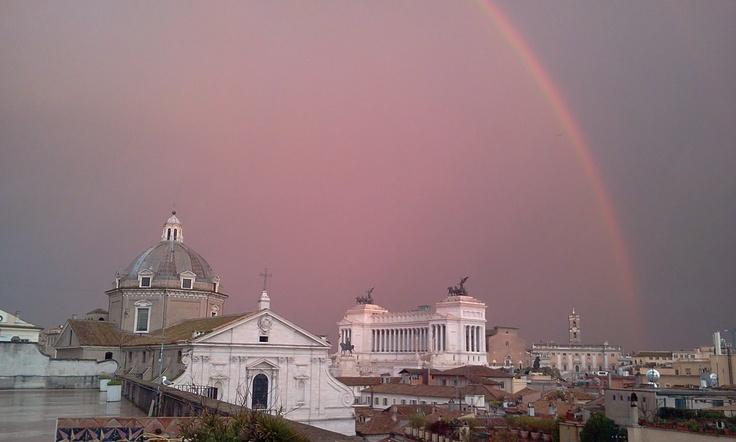 In rainbow #Rome #Roma