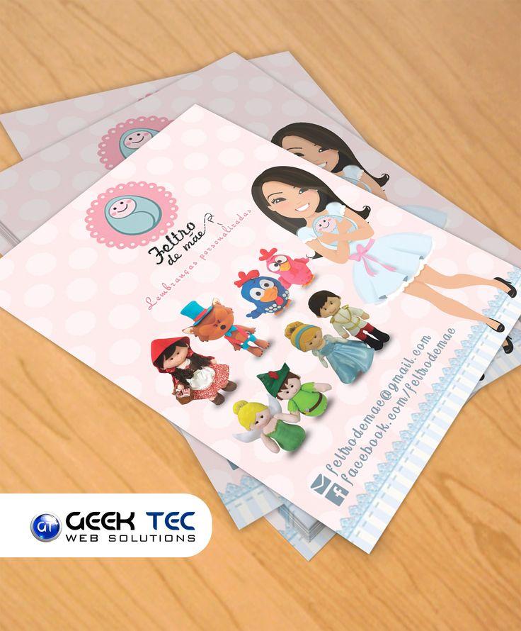 Panfletos para Feltro de Mãe  #GeekTec #Design #Impressos