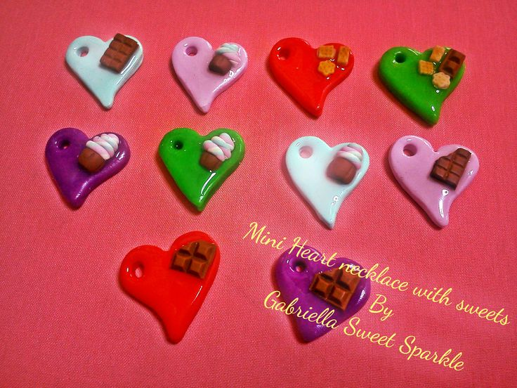 mini heart charms with sweets