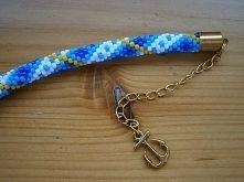 Bransoletka z koralików TOHO - Ręcznie robiona Blue bracelet! and this anchor :)