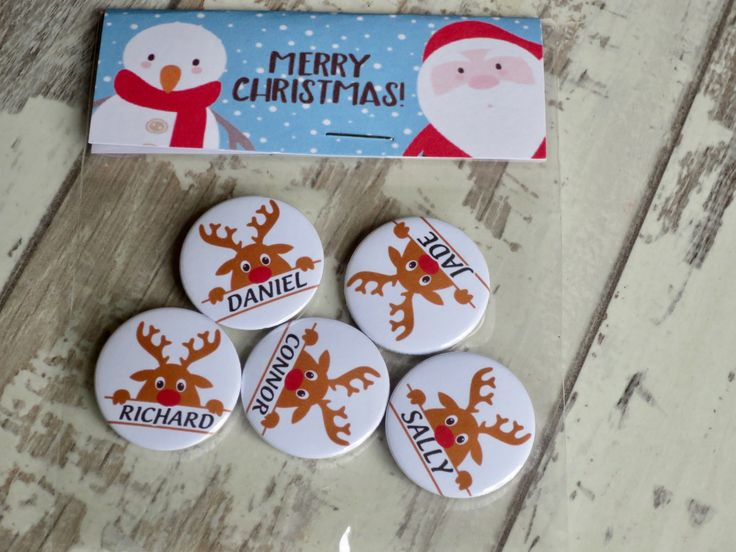 Custom Rudolph Name Badges for Christmas www.koolbadges.co… 🎅🏻 Great for… – Christmas Badges