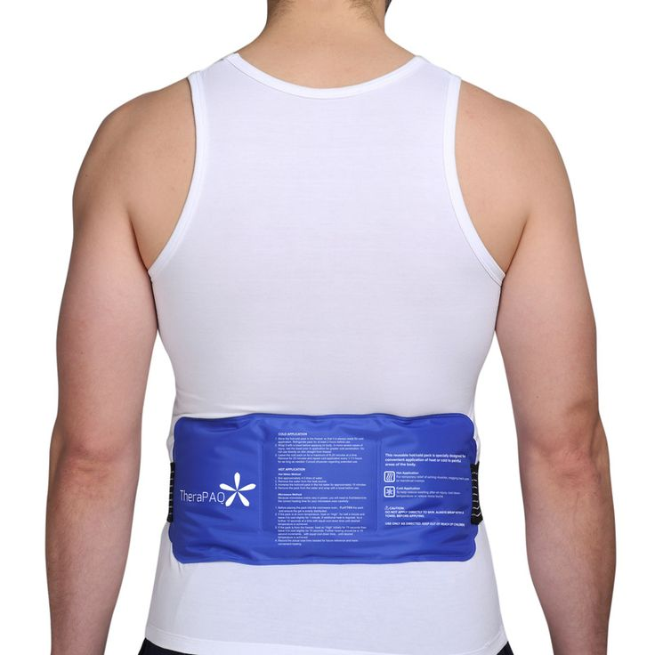 TheraPAQ - Flexible Ice Pack with Wrap for Hot and Cold Therapy - Reusable Gel Pack for Pain Relief : Great for Back, Waist, Shoulder, Neck, Ankle, Calves and Hip