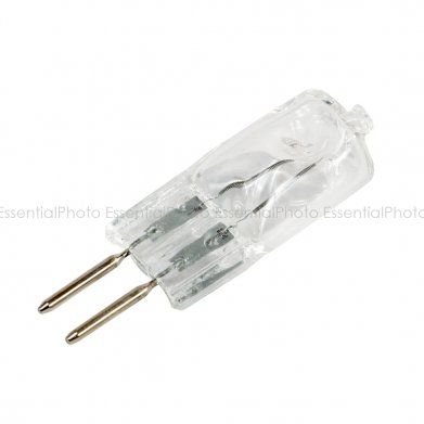 50w Modeling Bulb (G4/G5.3 Fitting) This highly efficient 2 pin halogen capsule bulb modelling lamp has an output of 50W and 3200K colour temperature,  it is perfect spare bulb for our 200w and 300w flash unit. With low low operating pressure and long bulb life, is great for free-burning applications or luminaires. The bulb is dimmable, can be used with many other brands of flash units.