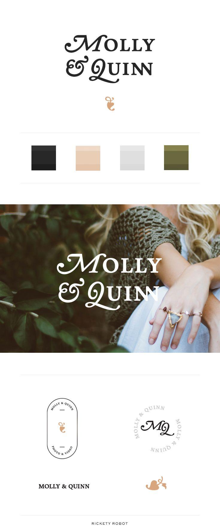 Molly & Quinn - Conceptual Photographer Branding - Designed by Rickety Robot