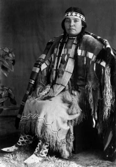Ester Clark (daughter of Woom-ah-kony and Edward L. Clark) - Comanche/Euro-American - no date