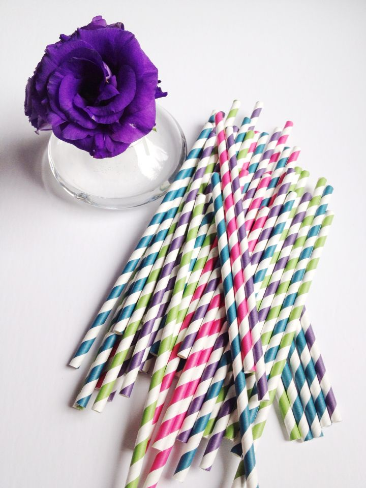 Paper Straws - colour for days!