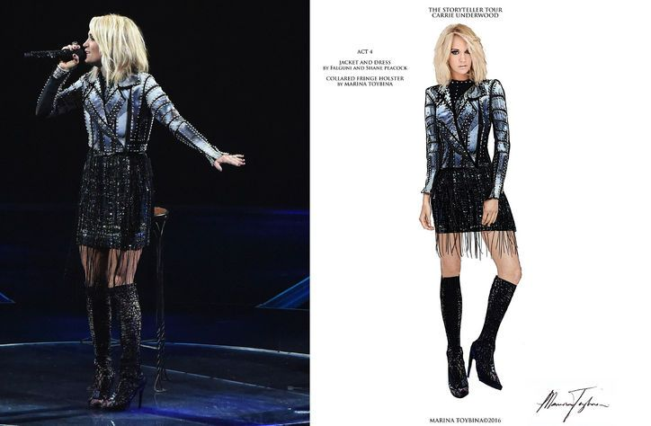 Take an Exclusive Peek at the Work That Goes into Carrie Underwood's Tour Wardrobe