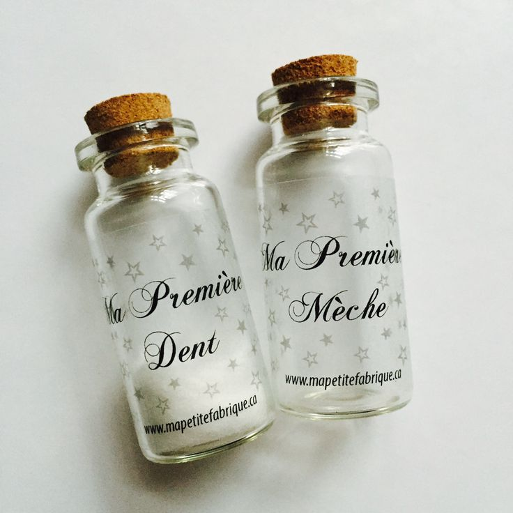 Duo Ma Première Dent & Ma Première Mèche disponible sur notre boutique en ligne | 2 mini bottles to keep First Baby tooth and his First lock of hair avalaible now on our online store