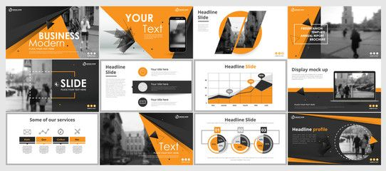 Abstract white, gray presentation slides. Modern brochure cover design. Fancy info banner frame. Creative infographic elements set. Urban city font. Vector title sheet model. Ad flyer style template - Buy this stock vector and explore similar vectors at Adobe Stock | Adobe Stock