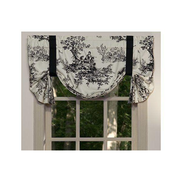 Darby Home Co Tammara Tie Up Curtain Valance Reviews Wayfair Curtains Valance Tie Up Curtains