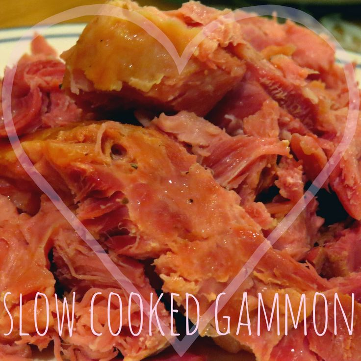 How to cook gammon or ham in the slow cooker; the easiest, and yet tastiest, method that I have tried yet.