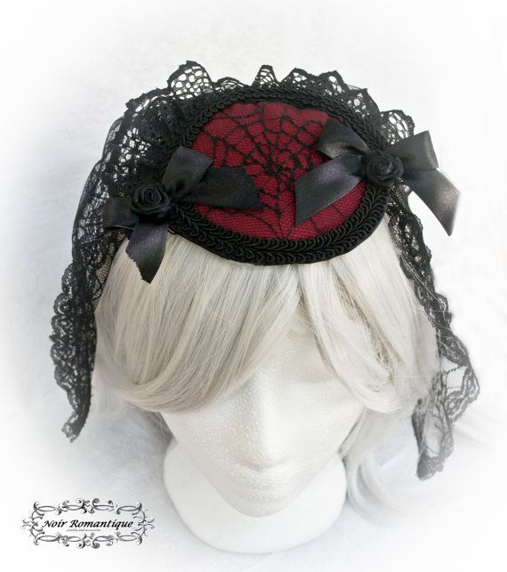 Gothic spider burgundy and black by NoirRomantique on Etsy