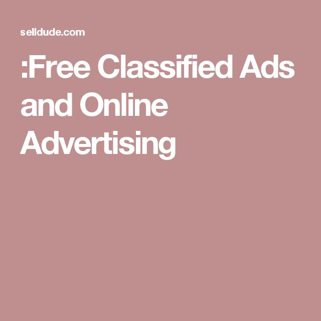 :Free Classified Ads and Online Advertising