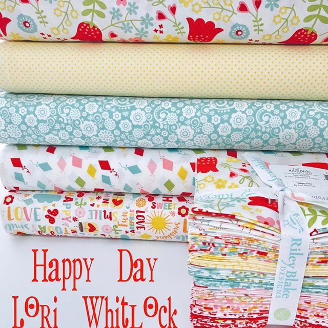 So I had a little compulsive shopping incident yesterday! These just had to come to the shop! They are so cheerful and pretty! And let's be honest... I may need to get some more... #happydayfabric #fabric #simplylovefabrics @loriwhitlock  #prettyfabric #happyfabric #sewing #iloverileyblake #rileyblakedesigns  #newfabric #intheshop #etsyseller