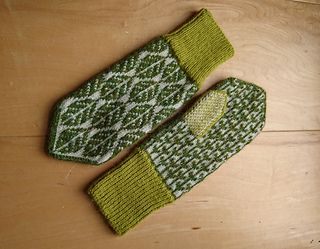 "This is the chart for my ""lövvantar"" or 'Leaf Mittens'. They were submitted to the 2017-18 Swedish mitten-sharing project ""Dela vantar"", or 'Sharing mittens' - where numerous Swedish knitters designed and shared their mitten patterns for free. Since I've had so many questions and requests for this pattern, I thought it would be nice to make it available on ravelry too - even if it is just a chart!"