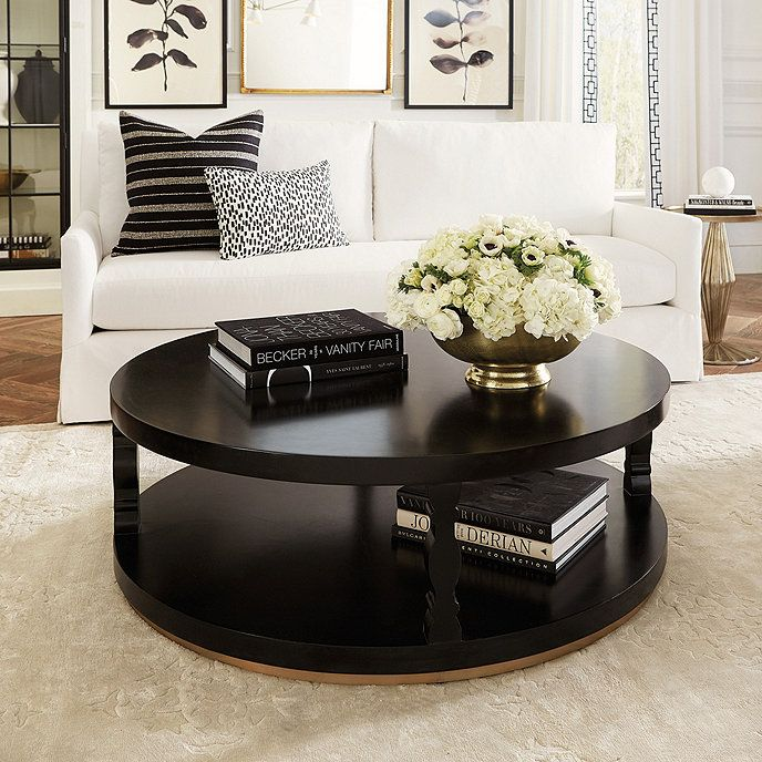 Cameron Round Black Coffee Table In 2020 Round Black Coffee Table Table Decor Living Room Round Coffee Table Decor