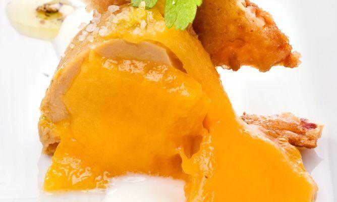Receta de Muesli, foie y mango