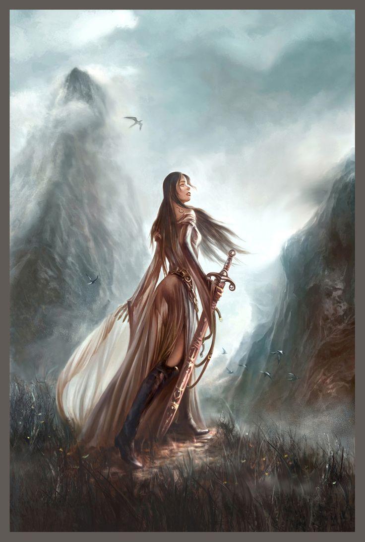 412 best warrior women images on pinterest female - Fantasy female warrior artwork ...
