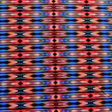 The Fabric Fairy Beautiful Vertical Tribal Kaleidoscope Nylon Lycra Swimsuit Fabric
