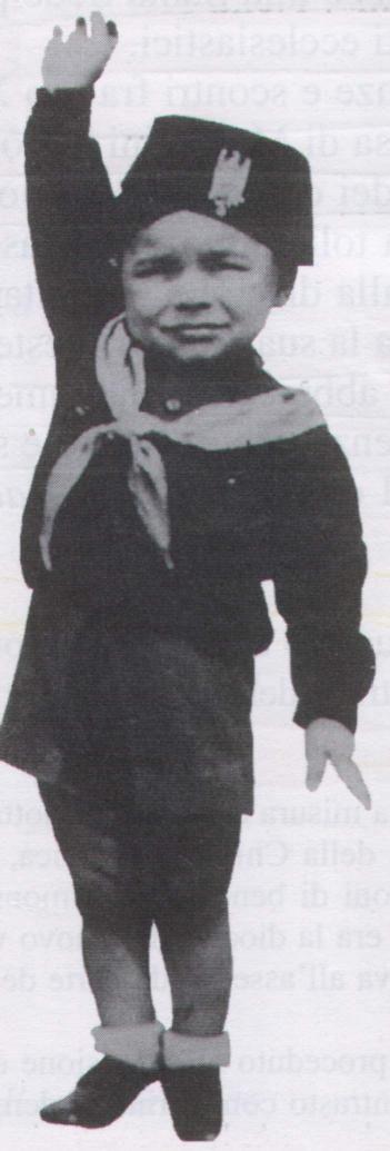 a fascist young boy