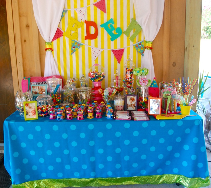 Birthday Party Buffet Table