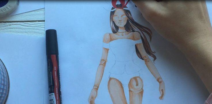 #кукла #косметика #макияж #бжд #скетч #скетчбук #рисунок #модель #иллюстрация #рисунокдевушка