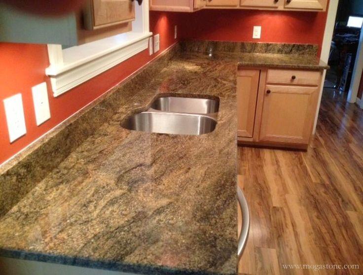 Natural stone kitchen countertops Granite Countertops Pinterest
