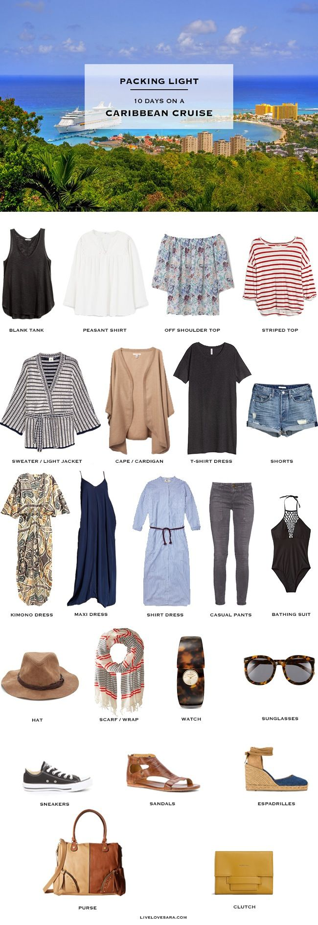 What to pack for a Caribbean Cruise - Packing Light