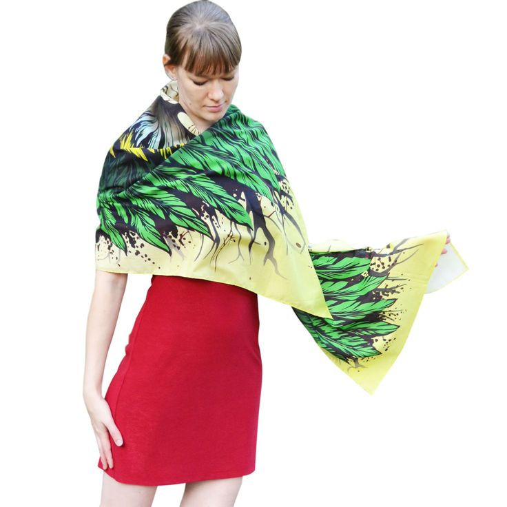 Bird's feathers – scarf