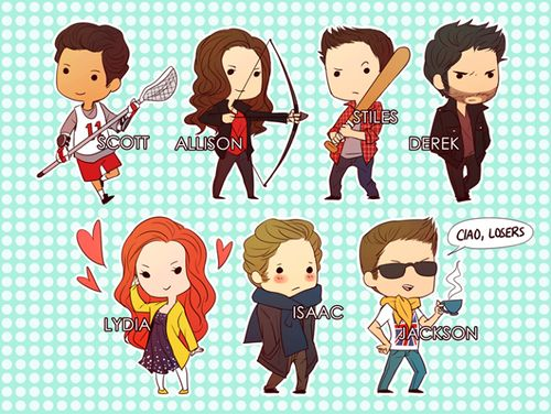 Teen wolf / Scott / Allison / Stiles / Derek / Lydia / Iaac / Jackon  ♥ lol ^^