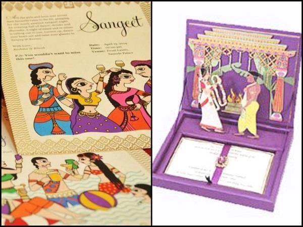 Wedding Invites Involving Famous Painting Prints or Couple Caricature. #Wedding #WomenTriangle www.womentriangle.com