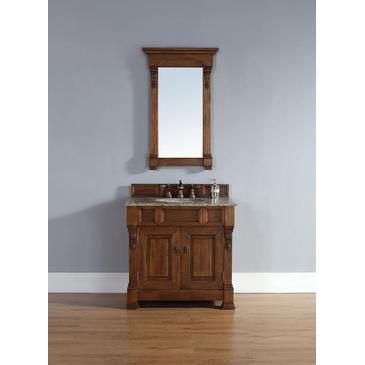 "James Martin Brookfield 36"" Single Cabinet In Country Oak from BEYOND Stores brings elegance to your bathroom decor immediately. Looking to amp up your bathroom decor in a big way? Check out all we have to offer at Beyond Stores #homedecor #bathroomdecor #bedroomdecor"
